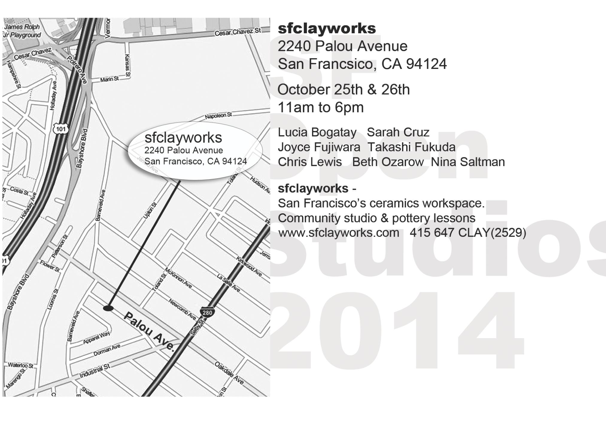 Open Studio 2014 Map
