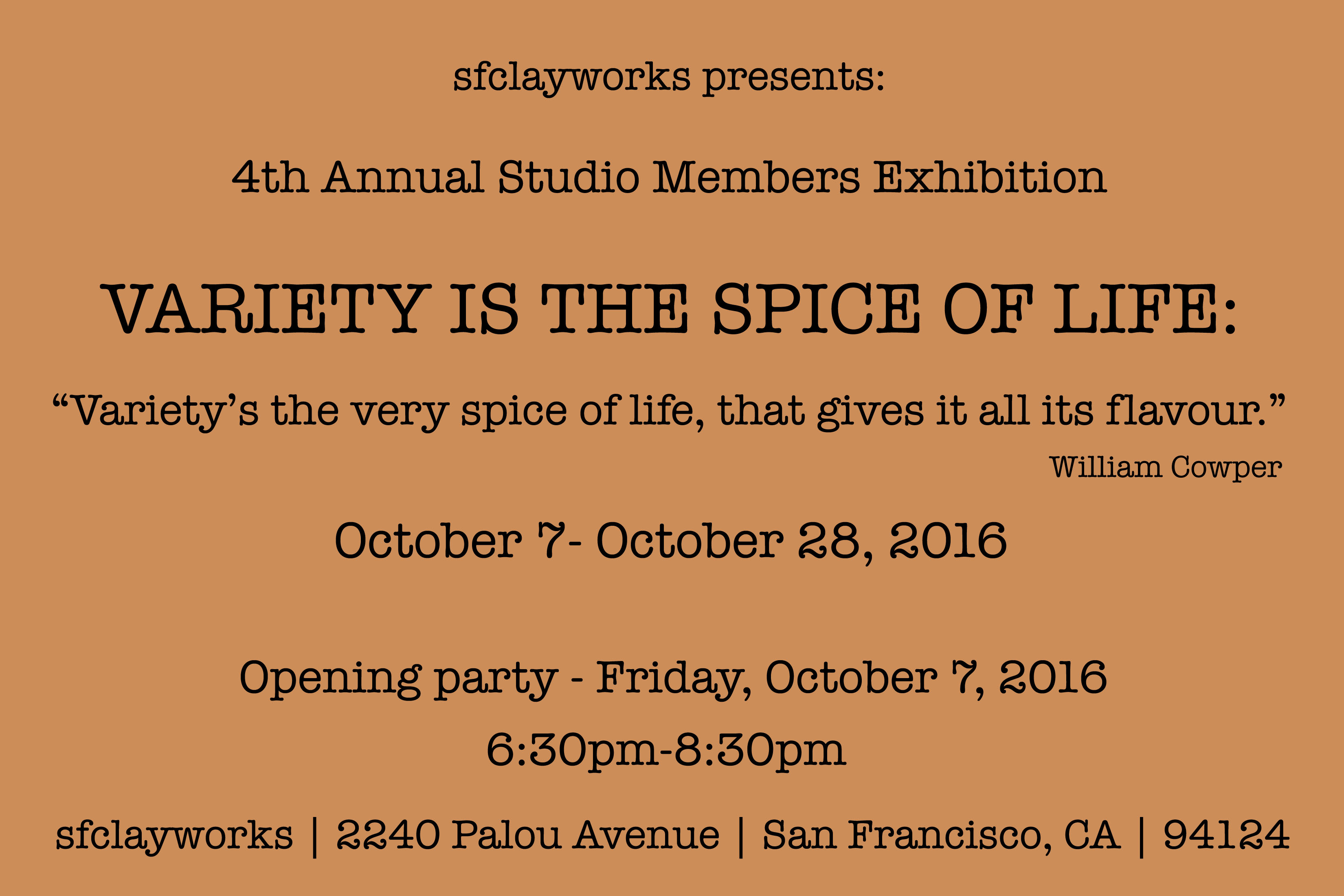 """Variety is the Spice of Life"": Student and community Member Exhibition"